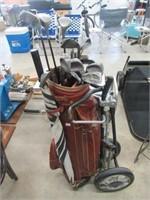 Set of left hand Daiwa golf clubs