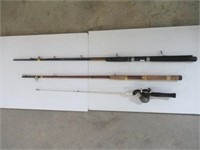 Group of partial fishing rods