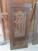 """Pair of lead glass cabinet doors - 26"""" x 60"""""""