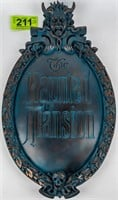 Art Disney's Haunted Mansion Gate Sign