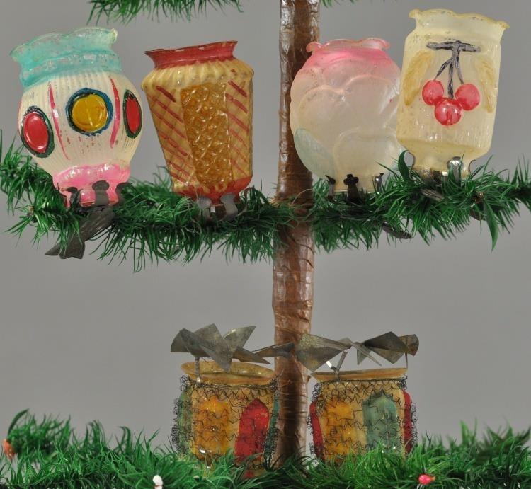 Christmas Tree Auction: *SIX GLASS CHRISTMAS TREE LANTERNS