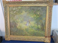Mar 3 Online Only - TC Steele Oil Painting