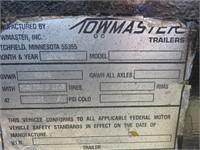 (DMV) 2002 Towmaster T-50 Equipment Trailer