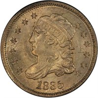 H10C 1835 LARGE DATE, LARGE 5C. PCGS MS66 CAC