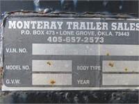 (DMV) 1991 Monteray Gooseneck Flatbed Trailer