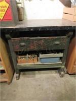 Wooden Shop Table w/1 Drawer & 1 Shelf