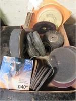 Assorted Sanding Wheels, Buffing Wheels, Cutting