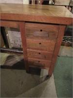 Wooden (4) Drawer Desk