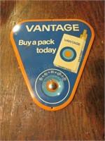 Metal Vantage Advertising Thermometer