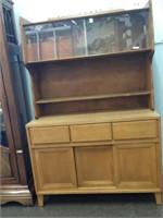 Conant Ball Mid-Century wood dresser w/display cae