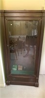 Antique wood display gun cabinet
