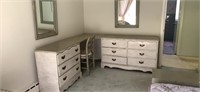Whitewashed wood large drawer  (not every thing)