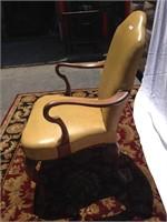 Vintage dijon leather chair