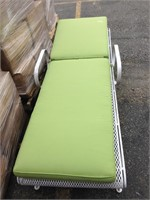 "White ""wicker"" with green cushion lawn shair"