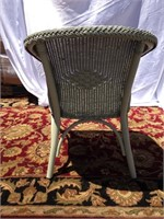 Wicker barrell chair