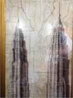 Art-Decor Style Skyscraper Building - Framed Art
