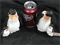 Pair of Penguin & baby figurines