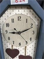 Vintage Country Rose mantle clock