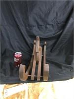 Vintage solid wood carved mini rocking horse