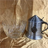 Bowl & stein with lid