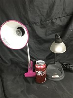 Pair of assorted modern lamps
