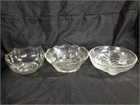 Assorted trio of bowls