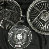 Trio of glass microwave plates
