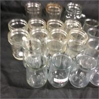 Assorted glass jars