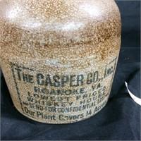 Vintage The Casper Co. whiskey jug