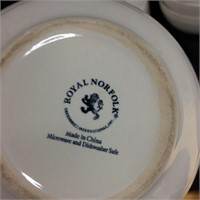Gibson & Royal Norfolk plates & bowls