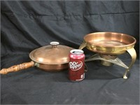 Copper sauce and heating dish