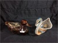 Duck & Swan figurines
