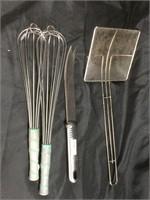 Assorted cooking utensils