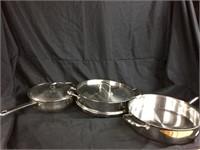 Trio of saucers
