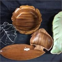 Assorted leaf motif trays/ Candy bowls