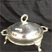 Silver plated dish holder