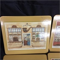 Set of decorative coasters