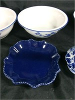 Assorted blue & white bowls (Mottahedeh)