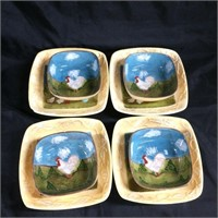Cottage Rooster by Jay set (Soup Set)