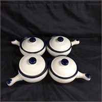 Mountainside stoneware saucer set
