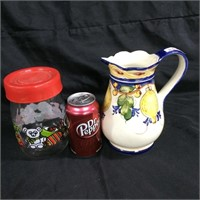 Assorted pair of pitchers