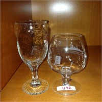 Wine glass & brandy snifter