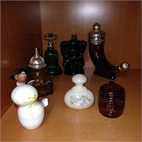Assorted perfume / cologne bottles