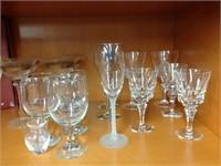Assorted glass & servingware
