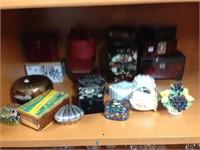 Assorted keepsake, jewelry, gift & trinket boxes