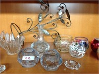 Assorted keepsakes (candle holders, etc.)