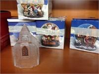 Assorted Christmas keepsakes (Snow globes)
