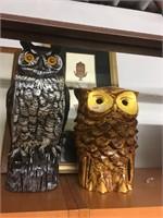 Home Decor - Pair of owl figurines