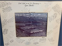 Signed Pentagon retirement photo