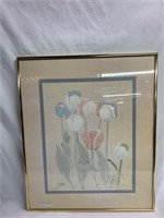 Water color tulips - Framed wall art